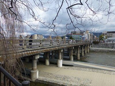 197 三条大橋(弥次喜多像から)