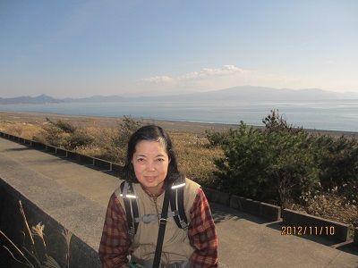 61 千本松原の堤防からの駿河湾