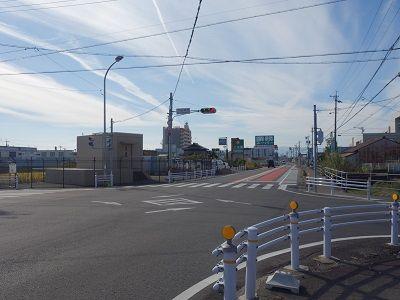 109 下田橋西交差点(到着地)