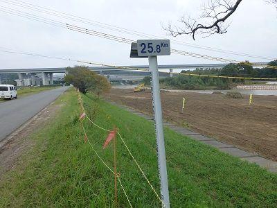 090 鈴鹿川河口からの距離標示