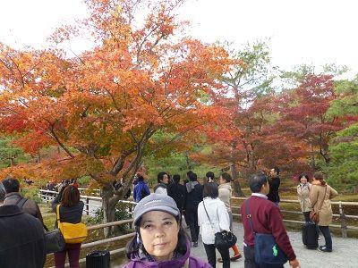 129 金閣寺境内の紅葉