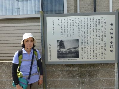 018 亀山城大手門跡