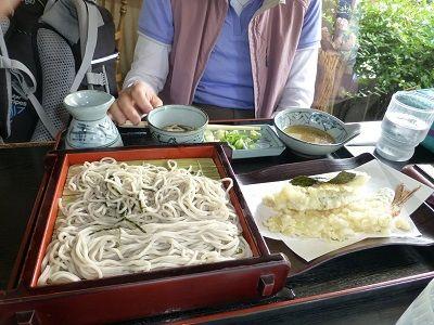 137 昼食(天ざるそば)
