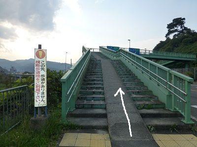 119 朝国横断歩道橋上り