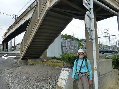 105 一ツ木一里塚跡(一里山歩道橋下)