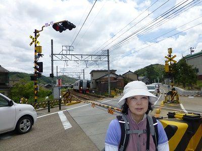 128 名鉄踏切・特急列車