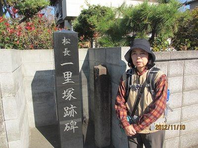 43 030大諏訪松長一里塚跡碑