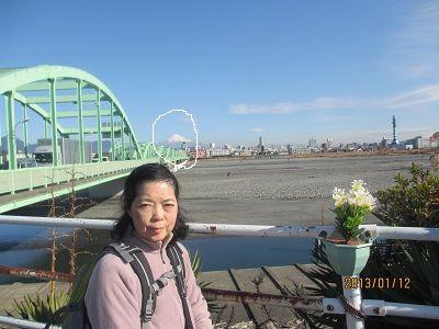 23 富士山の眺望(安倍川橋西側)