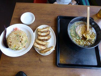 052 炒飯・餃子・醤油ラーメン