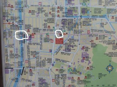 181 三条大橋付近図