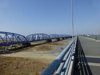 038 新天竜川橋(右)と旧天竜川橋
