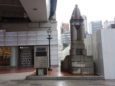 009 煉瓦銀座の碑・煉瓦とガス燈