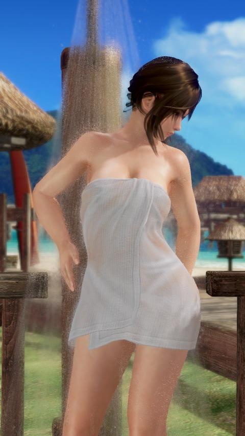 エロ野外シャワー湯あがりコーデDOAX-VenusVacation misaki