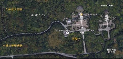 明治天皇陵地図