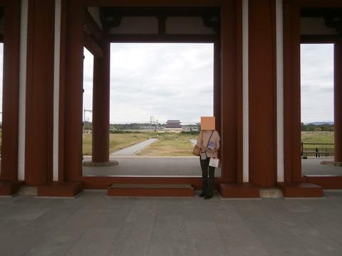 平城京朱雀門から大極殿