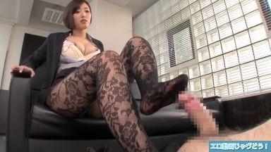 [JAV]パンスト痴女OLの水野朝陽さんが変態社長と濃厚セックス 水野朝陽