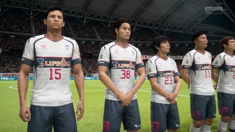 FIFA 18 キャリアモードの試合 0-0 URA V TYO, 前半_1