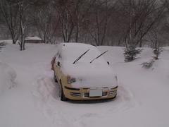 17降り積もる雪パンダ号