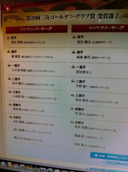 2010_11_13ゴールデングラブ賞