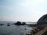 志賀島遠くに市街地