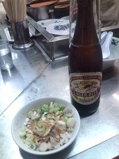 ビール+チャーシュー