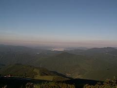 吾妻山山頂から高野町方面