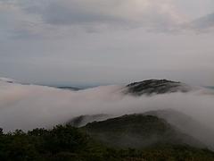 池の段からの雲海(御陵方面)