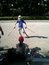 スキーの練習