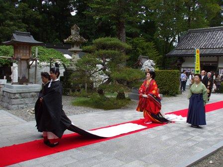 熊野本宮大社挙式入場