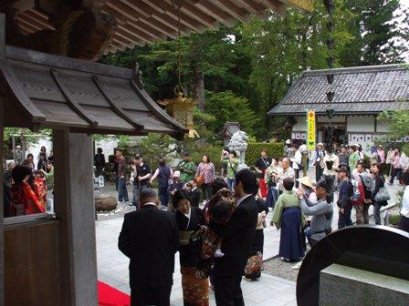 熊野本宮大社で挙式