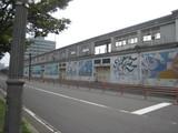20090828旧大連航路屋上わたせせいぞう壁画
