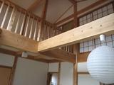 山古志モデルハウス高床吹き抜け