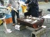 20091023収穫祭鱒焼き