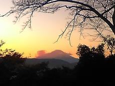 20151128夕日の富士山