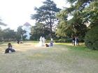 博物苑で結婚写真