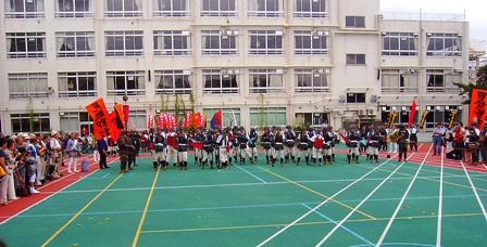 戸山小学校校庭