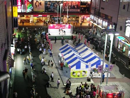 シネシティ広場夜
