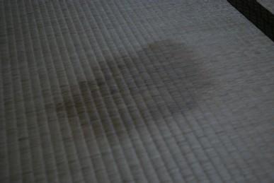 畳にしみが…