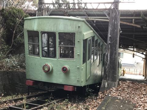 【高松】屋島ケーブルの車両と駅跡