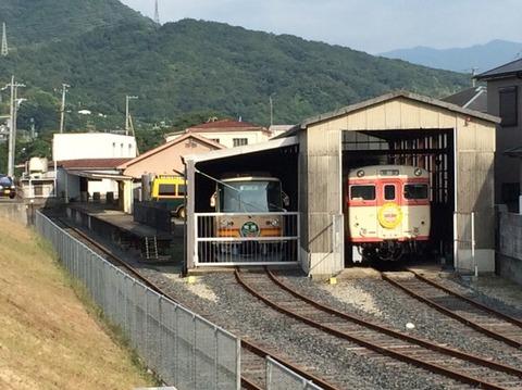 【有田川】キハ58003とハイモ180-101 有田川鉄道公園