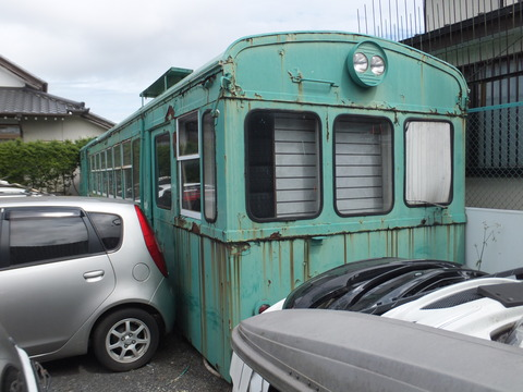 【某所】日立電鉄モハ15 某自動車販売店
