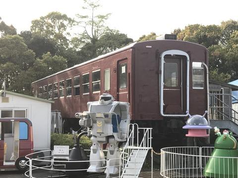 【高知】オハ50-11&土佐電鉄218/わんぱーくこうち