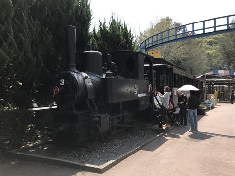 【岡山】井笠鉄道2号と西大寺鉄道の客車+貨車 池田動物園