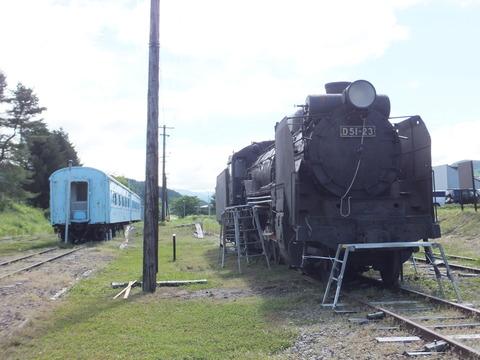 【平取】D51-23とスハフ42-519+スハ45-37 振内鉄道記念館