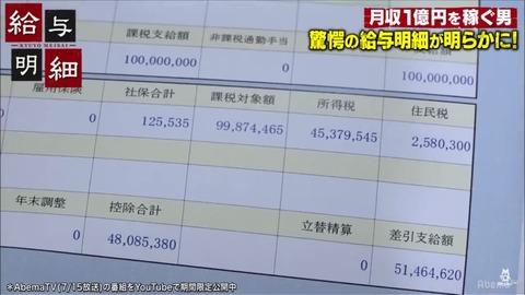 【悲報】月収が億り人の給与明細が話題にwwwwwwwwwwwwwwwwww