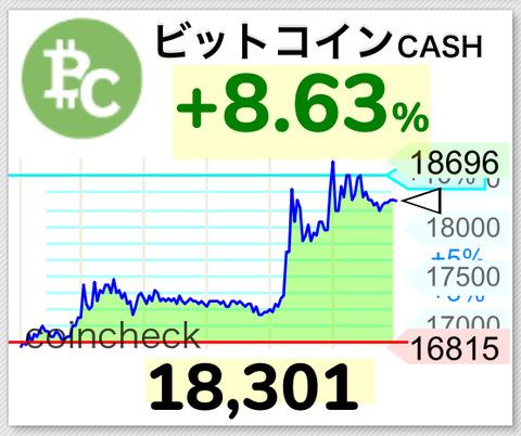 【超速報】ビットコインキャッシュ爆上げ中wwwwww 【BCH】