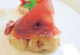 下栗芋と生ハムのマリネ