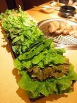 サムギョプサルセットの葉っぱたち
