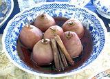 西洋梨の赤葡萄酒煮
