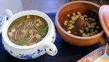 もやしと豆のスープ